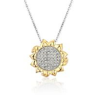 MyMiss 非常爱礼 925银镀铂金 向日葵项链