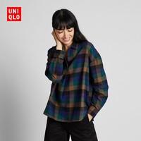 UNIQLO 优衣库 421714 女士法兰绒格子衬衫