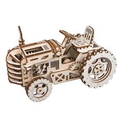 Robotime 若态 木质机械传动模型 LK401 越野拖拉机