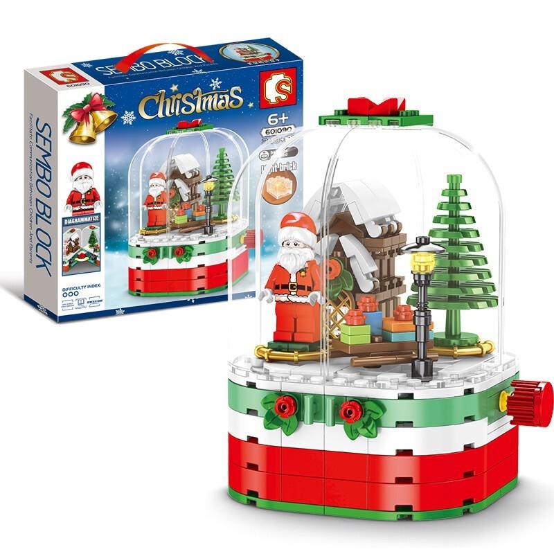 SEMBO BLOCK 森宝积木 圣诞旋转小屋