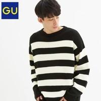 GU 极优 317413 男装条纹针织衫