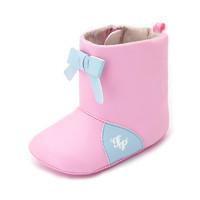 费儿的王子童鞋简约系列宝宝学步鞋春秋女0一2岁婴儿软底保暖短靴 *2件
