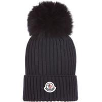 京东PLUS会员 : MONCLER 蒙口 奢侈品童装 19新款 儿童黑色羊毛毛球帽子  M码
