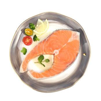 通威鱼 智利冷冻轮切三文鱼排(大西洋鲑) 250g *4件+冷冻三去海鲈鱼 430g