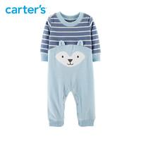 Carters新生婴儿连体衣秋冬摇粒绒哈衣爬服118I718