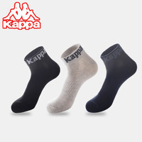Kappa 卡帕 男士短袜 3双装(买一赠一实得6双) *2件