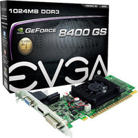 EVGA GEFORCE 8400 GS PCIE 游戏显卡