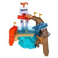 HOT WHEELS 风火轮 城市主题轨道  BGK04 变色小车鲨鱼港赛道礼盒套装