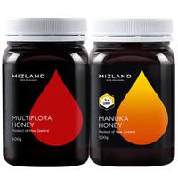 蜜滋兰(mizland) 新西兰蜂蜜1000g组合装(多花蜜+麦卢卡UMF5+) *2件