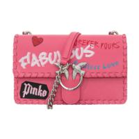 PINKO 品高 LOVE FABULOUS系列 女士编织边涂鸦燕子包