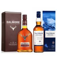 帝摩 大摩/达尔摩12年 单一麦芽纯麦苏格兰威士忌 700ml+泰斯卡10年 700ml