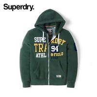 英国Superdry极度干燥卫衣男连帽休闲印花加绒潮牌SM20150TRL 暗绿色 XL