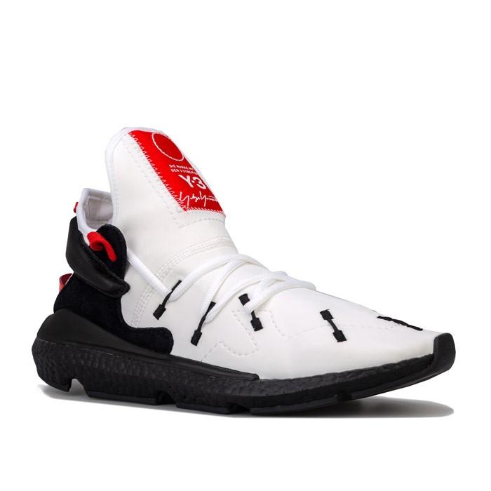 Y-3 Mens Kusari II Trainers 男士跑鞋 White Black UK9.5