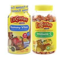 L'il Critters 丽贵 儿童多种维生素190粒+维生素C 190粒