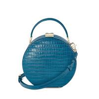 Aspinal of London 女士小牛皮小圆帽子包/手提包/单肩斜挎包 多色可选 托帕蓝