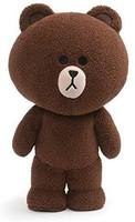 GUND Line Friends 毛绒填充动物 站立熊, 棕色, 14英寸/约35.56厘米