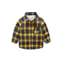 I.K 印象童年 男童加绒格子衬衫