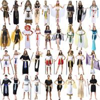 cos万圣节服装男女大人成人埃及法老衣服成人公主长裙古希腊艳后