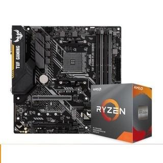 华硕 TUF B450M-PLUS 主板+AMD  3600 CPU套装