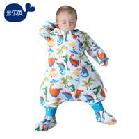 米乐鱼 婴儿睡袋 夹棉款霸王龙110*64cm