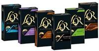 L'OR 铝壳咖啡胶囊, 兼容Nespresso,6个品种(6x10粒)