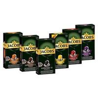 Jacobs  铝壳咖啡胶囊, 兼容Nespresso,6个品种(6x10粒)