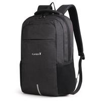 花花公子电脑包男女超大容量旅行包书包15.6英寸笔记本包男士背包商务双肩包PBN0911-8HH黑色 *2件