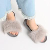 UGG Royale系列 1018875 女士时尚毛毛拖鞋