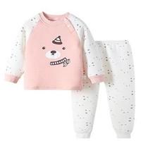 miiow 猫人 宝宝夹棉保暖内衣套装 *3件