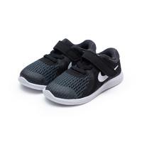 预售黑卡价:NIKE REVOLUTION 4 (TDV) 男童运动鞋 943304-006 黑色 23.5-27码