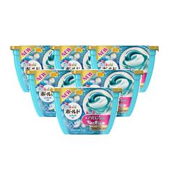 预售:6盒装丨日本原装P&G宝洁 碧浪洗衣球 3D凝珠18粒浅蓝色百合花香型
