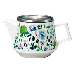 Narumi 鸣海 茶壶 Anna Emilia 三叶草花园630 毫升 可使用微波炉加热 可用洗碗机清洗 日本制造