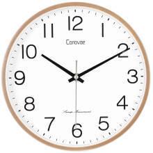 23日14点:Canovoe挂钟钟表客厅静音简约表挂墙创意时钟石英钟 2706金色