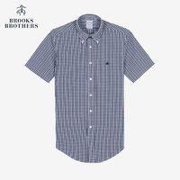 88vip会员价:Brooks Brothers/布克兄弟泡泡纱小格子休闲短袖衬衫1000046005