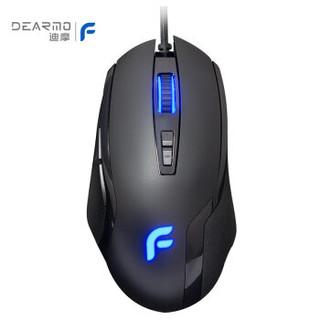 迪摩(DEARMO)F22有线鼠标 7键宏定义鼠标 黑色 6000DPI 自营