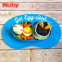 Nuby 努比 27141913427 硅胶餐盘 (绿色)