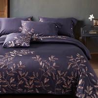 Xanlenss 軒藍仕 埃及60S長絨棉盤金蘇繡四件套 1.8米床