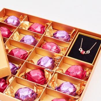 美国进口 歌帝梵 (GODIVA) 松露型爱心巧克力礼盒18颗装