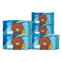 舒洁(Kleenex)LINE Friends 湿厕纸 40片*3包装+10片*2包装 私处清洁湿纸巾湿巾 可搭配卷纸卫生纸使用