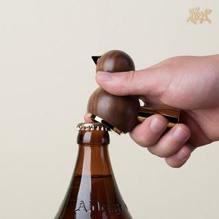 铜师傅 铜木主义 小鸟开瓶器 榉木款
