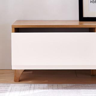 全友家居 电视柜 简约北欧小户型双抽电视柜 120750 电视柜