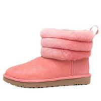 UGG Fluff Mini Quilted系列 女士时尚短筒毛绒雪地靴