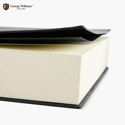 乔先生 超厚道林纸软皮面笔记本 曜石黑 A6 空白版 *2件