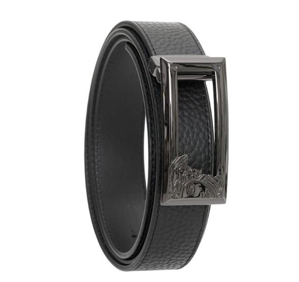 考拉海购黑卡会员 : Versace Collection 男士经典美杜莎立体Logo窄头板扣腰带