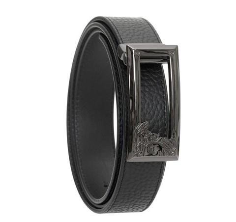 考拉海购黑卡会员:Versace Collection 男士经典美杜莎立体Logo窄头板扣腰带