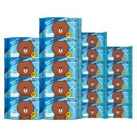 舒洁(Kleenex)LINE FRIENDS 湿厕纸礼盒 40片9包+10片11包 私处清洁湿纸巾湿巾 可搭配卷纸卫生纸使用