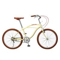 永久通勤自行车男女轻便成年人单车普通车复古欧式城市简约学生沙滩车 单速24寸米黄色
