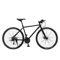 永久700C自行车27速双碟刹男女式越野公路车成人直把城市竞速赛车单车 黑色