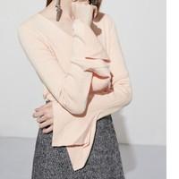 Lily 118410B8729 女装潘通色V领针织衫