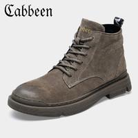 CABBEEN 卡宾 男加绒保暖马丁鞋